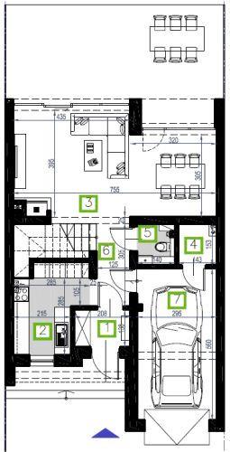 Segment F, parter, 63,97 m2