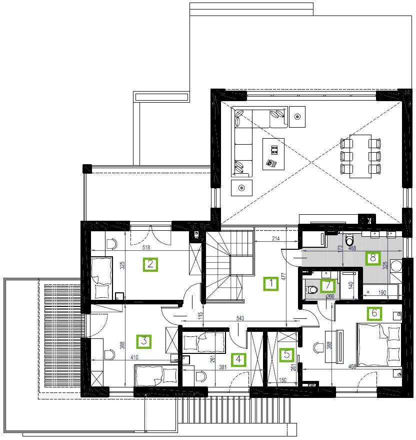Budynek B2, piętro, 96,25 m2