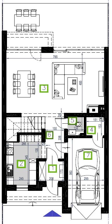 Segment A, parter, 79,43 m2