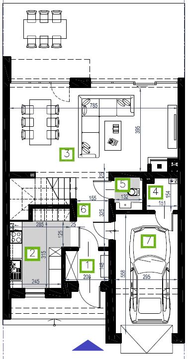 Segment D, parter, 70,94 m2