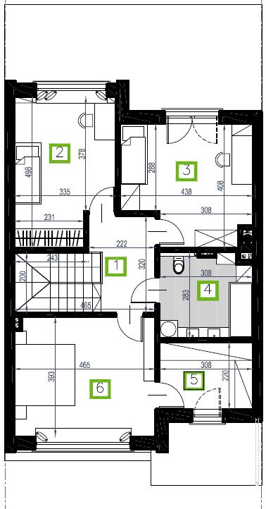 Segment D, piętro, 73,79 m2