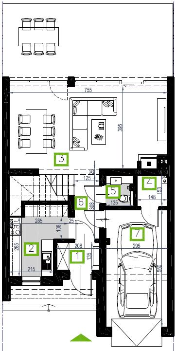 Segment E, parter, 66,82 m2