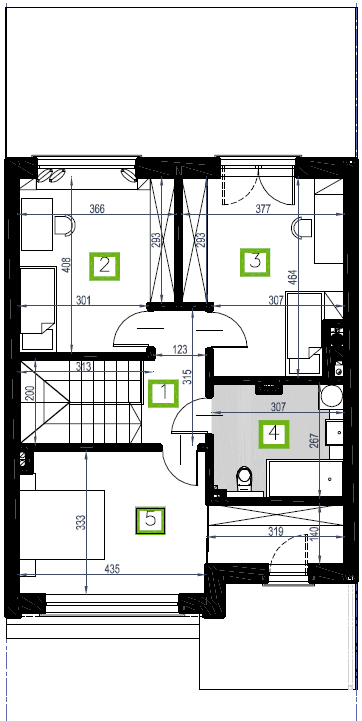Segment E, piętro, 63,94 m2