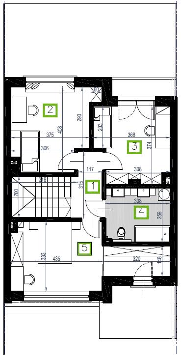 Segment F, piętro, 61,15 m2