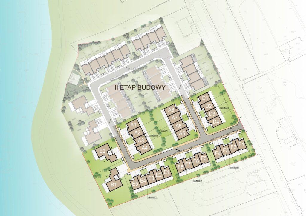 Eko Park Zadębie, plan osiedla, etap 1