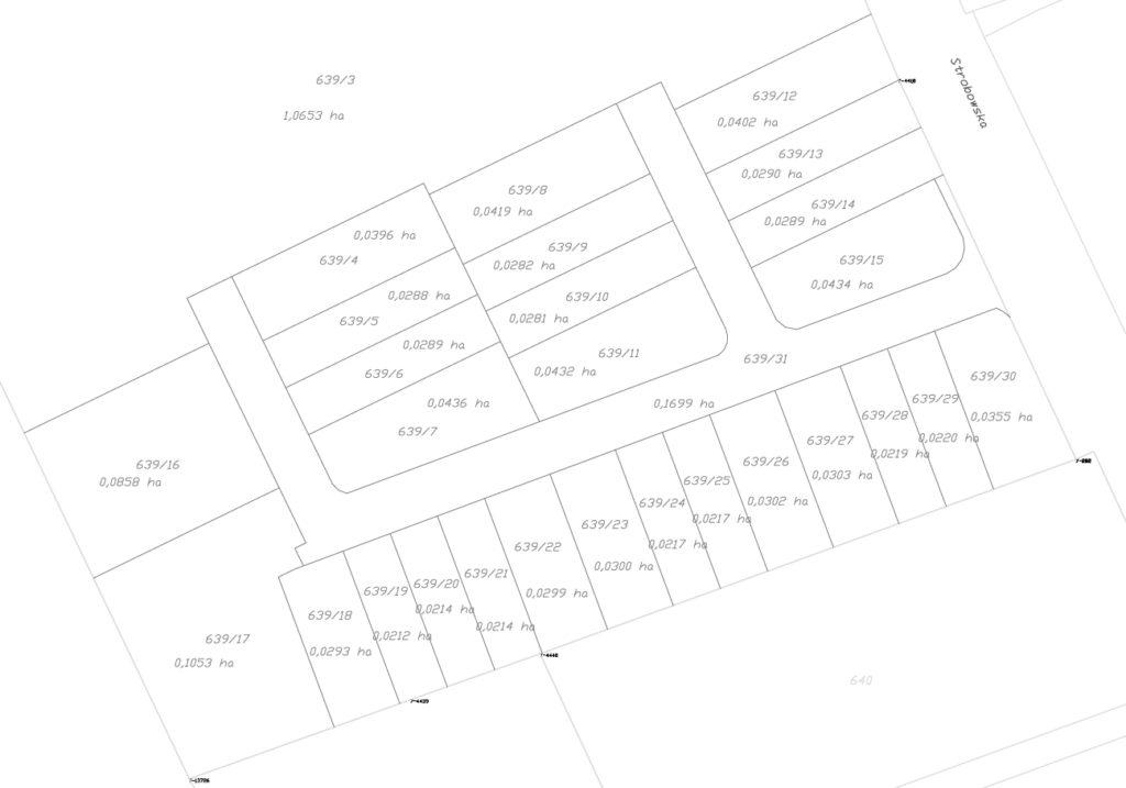 Eko Park Zadębie, plan podziału osiedla, etap 1