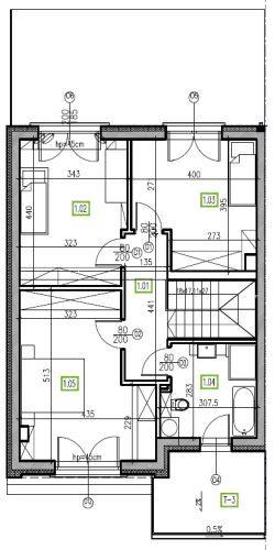 E13 - piętro, 64,48 m2