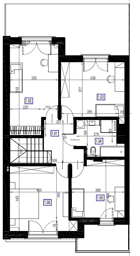 A3 - piętro, 83,78 m2