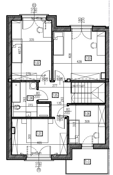 D1 - piętro, 74,44 m2