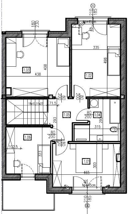 D6 - piętro, 74,44 m2