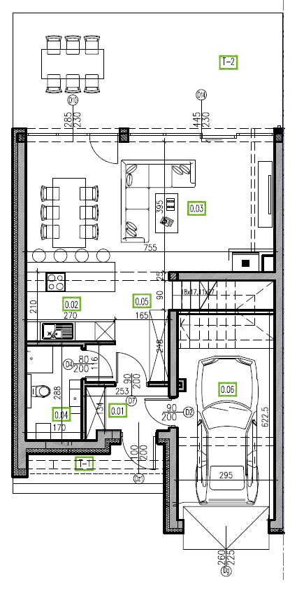 E1 - parter, 66,81 m2