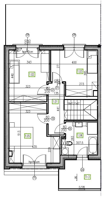 E1 - piętro, 64,48 m2