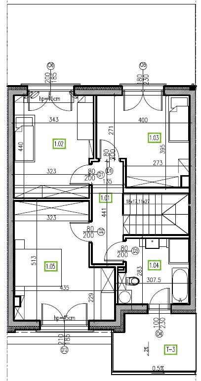 E10 - piętro, 64,48 m2