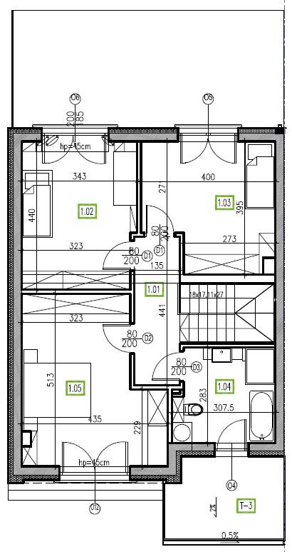 E12 - piętro, 64,48 m2