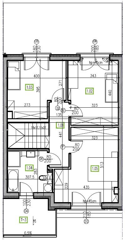 E14 - piętro, 64,48 m2