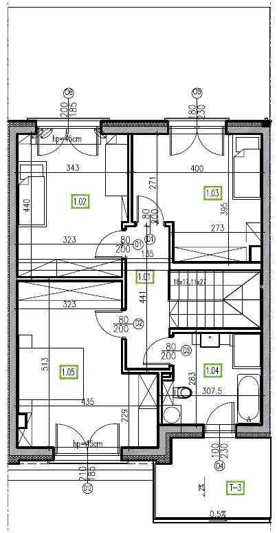 E15 - piętro, 64,48 m2