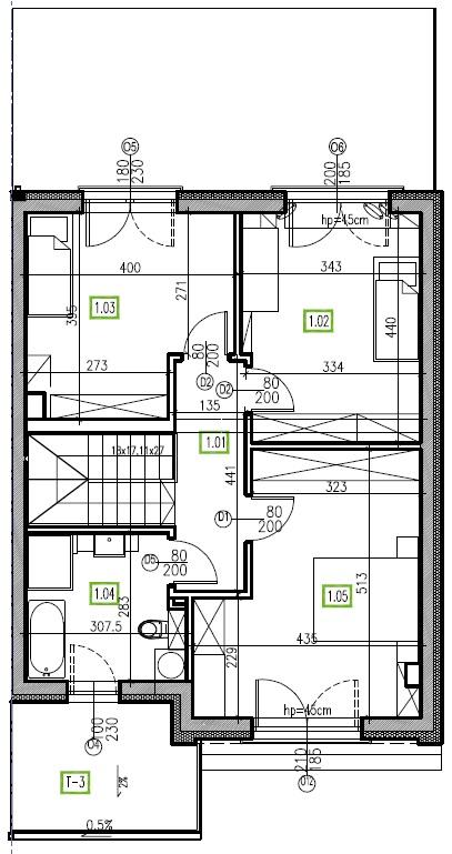 E16 - piętro, 64,48 m2