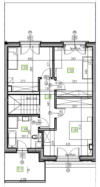 E2 - piętro, 64,48 m2