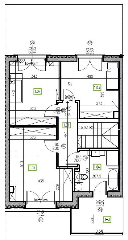 E3 - piętro, 64,48 m2
