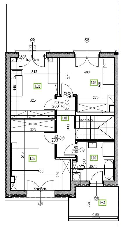E5 - piętro, 64,48 m2