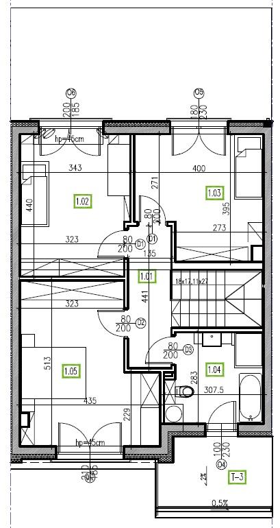 E7 - piętro, 64,48 m2