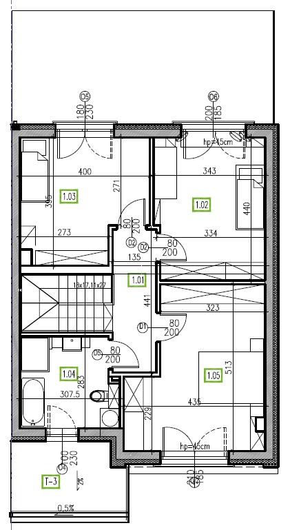 E8 - piętro, 64,48 m2